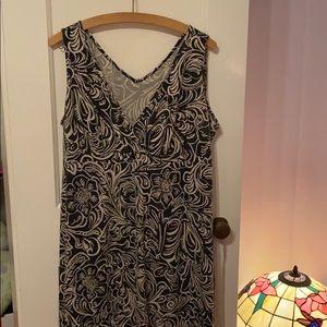 Bill Blass Black and white dress/sundress